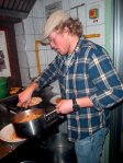 hostel cooking (spaghetti is always a cheap option)