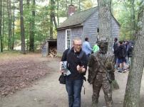 Replica Thoreau and cottage in Concord